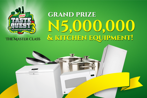 Win 5 Million naira & lots of kitchen equipment register for KTQ3
